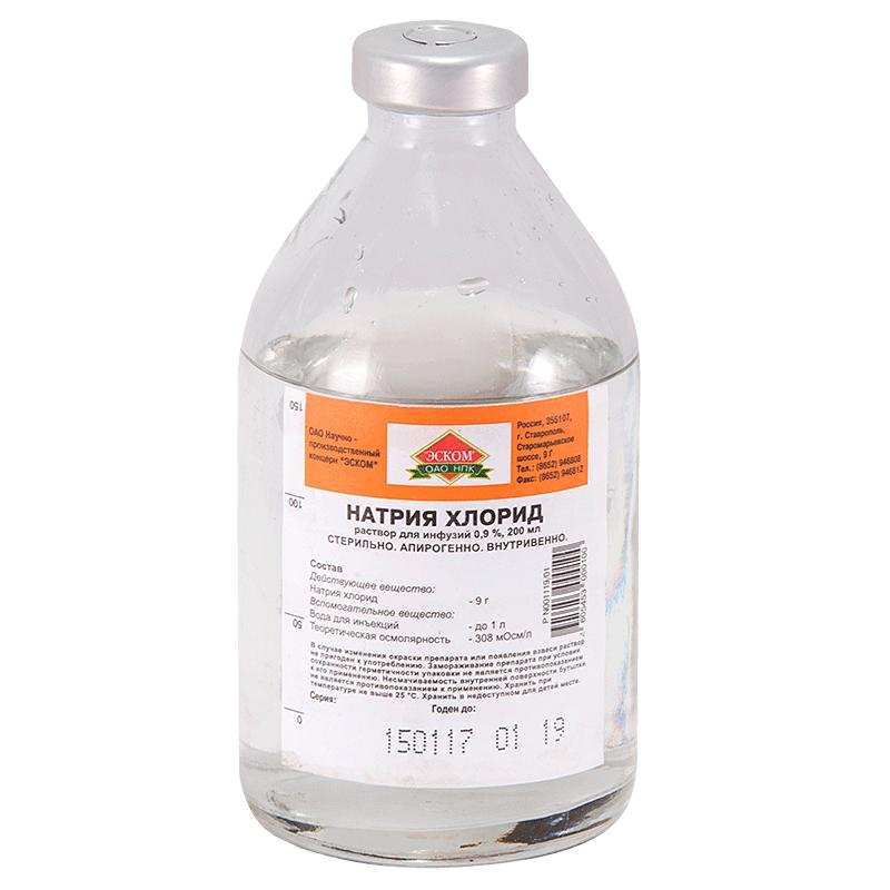 Физиологический раствор хлорида натрия