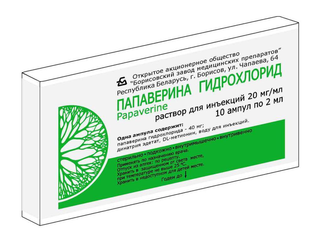Папаверин гидрохлорид – инструкция по применению: таблетки, уколы, свечи. Папаверин при беременности, детям