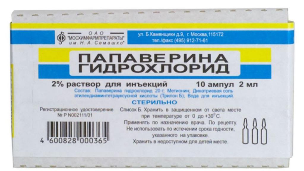 инъекции папаверин
